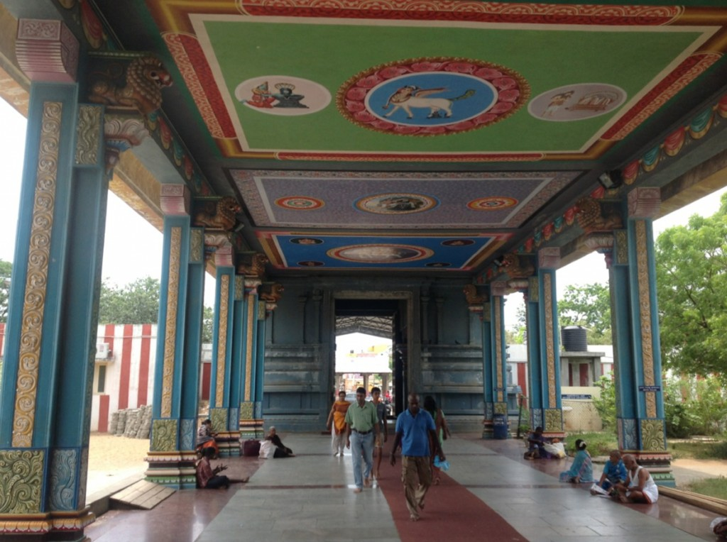 passage from gopuram into temple premises