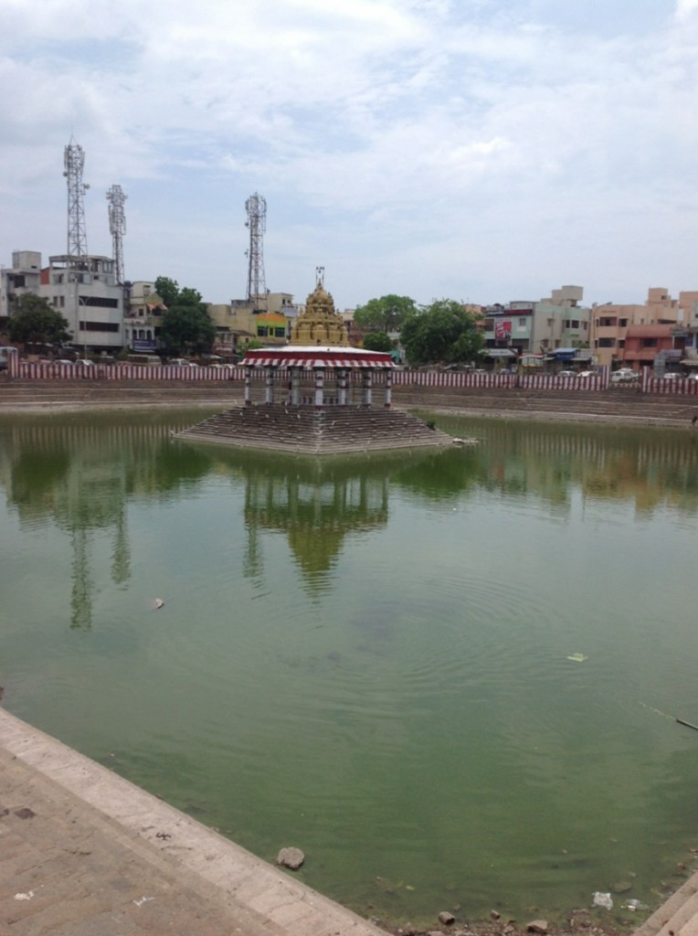 Main pond outside the temple